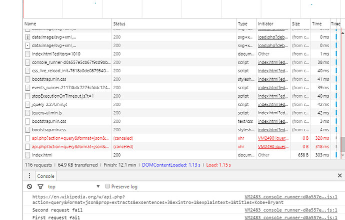 Wikipedia Viewer Api Jquery Does Send Query To Servers The