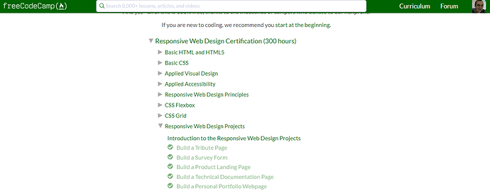 Help with claiming certifications for responsive web design - Help ...