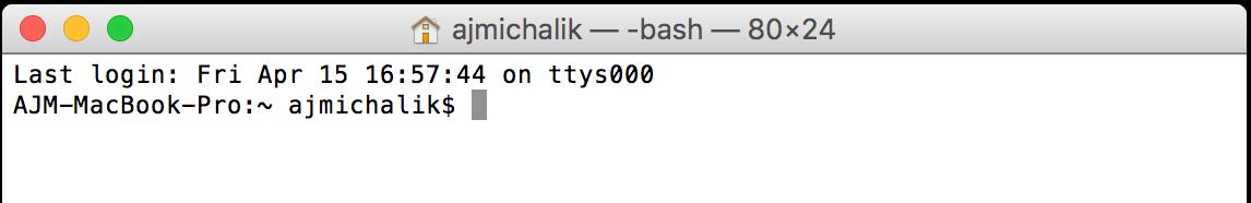 Mac Command Line
