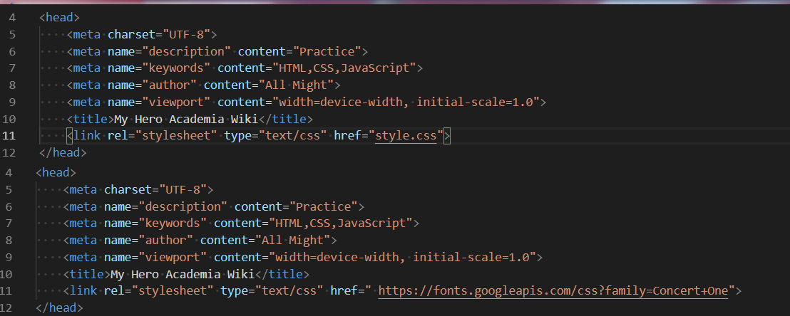 How do i link the css file AND a google font - HTML-CSS
