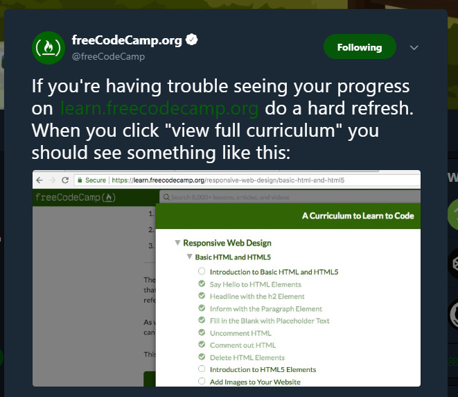 Progress or Map issue - Help - The freeCodeCamp Forum