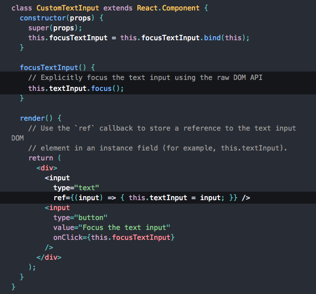 TypeError: this textInput is undefined React - The