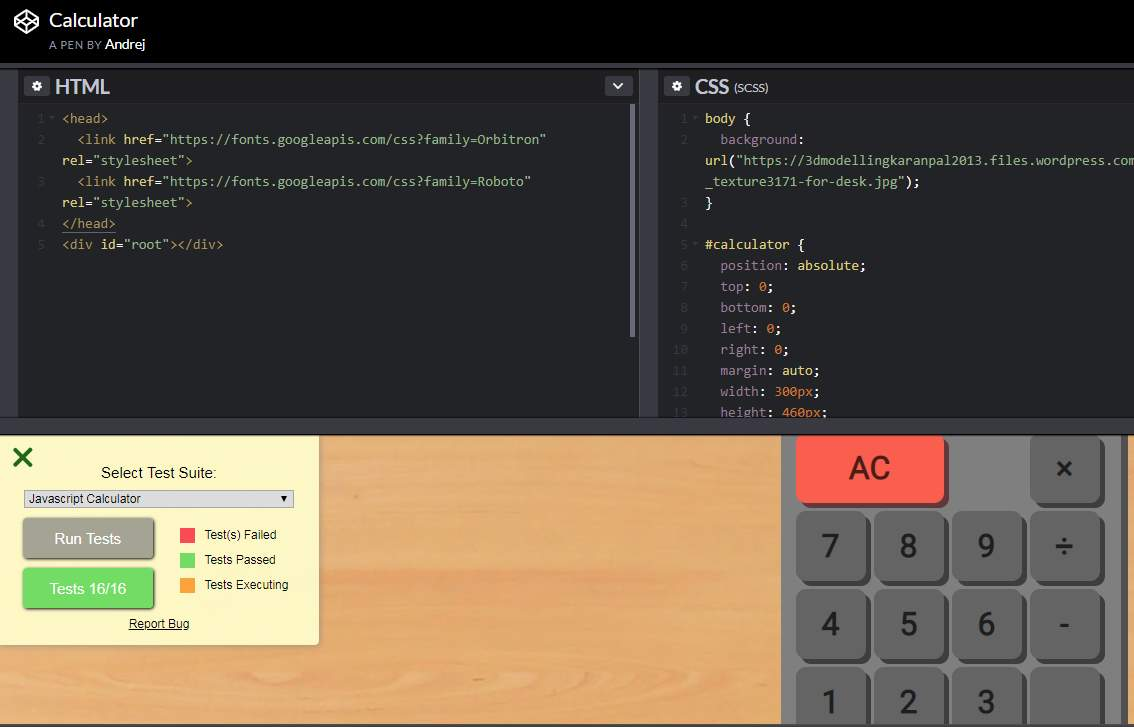 Build a JavaScript Calculator \n character issue